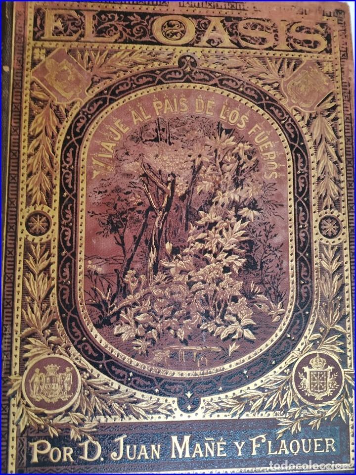 Libros antiguos: AÑO 1878-80: EL OASIS. VIAJE AL PAÍS DE LOS FUEROS. 3 TOMOS ILUSTRADOS DEL SIGLO XIX. MAÑÉ Y FLAQUER - Foto 35 - 182367432