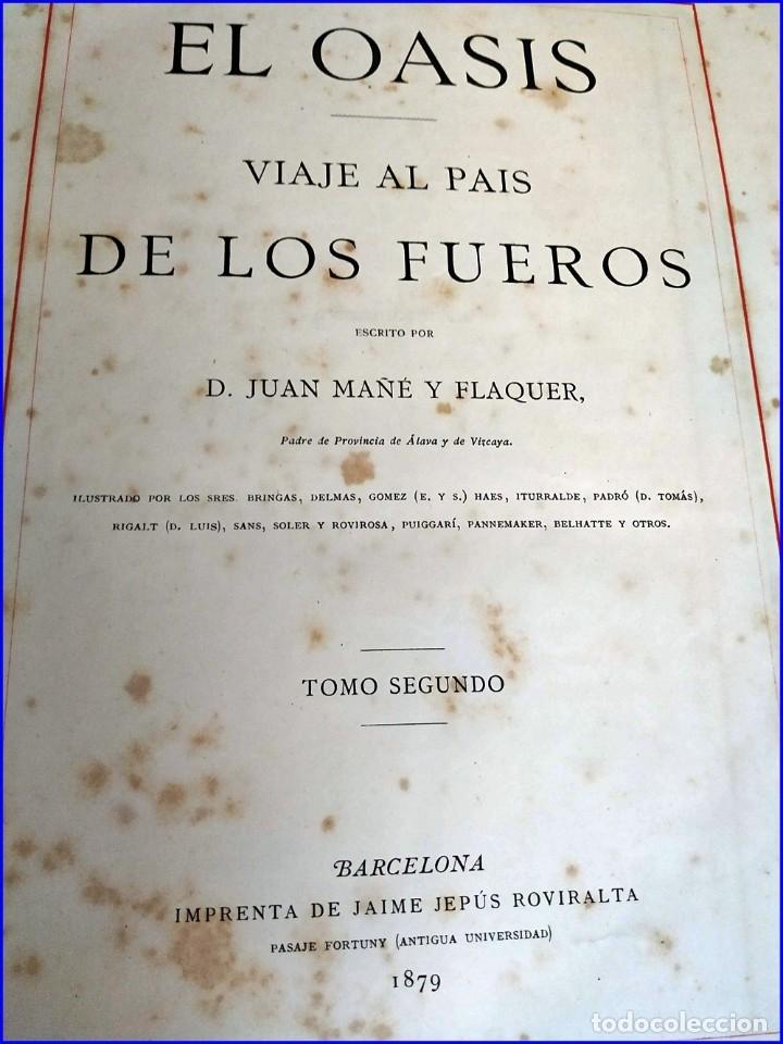 Libros antiguos: AÑO 1878-80: EL OASIS. VIAJE AL PAÍS DE LOS FUEROS. 3 TOMOS ILUSTRADOS DEL SIGLO XIX. MAÑÉ Y FLAQUER - Foto 36 - 182367432