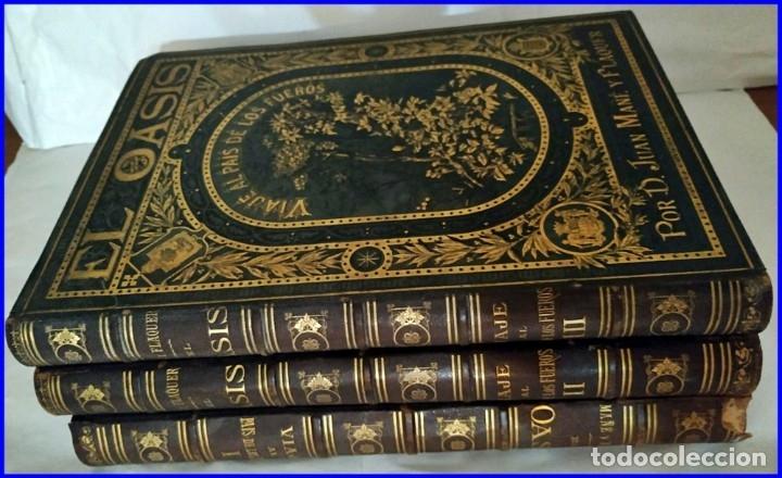 Libros antiguos: AÑO 1878-80: EL OASIS. VIAJE AL PAÍS DE LOS FUEROS. 3 TOMOS ILUSTRADOS DEL SIGLO XIX. MAÑÉ Y FLAQUER - Foto 48 - 182367432
