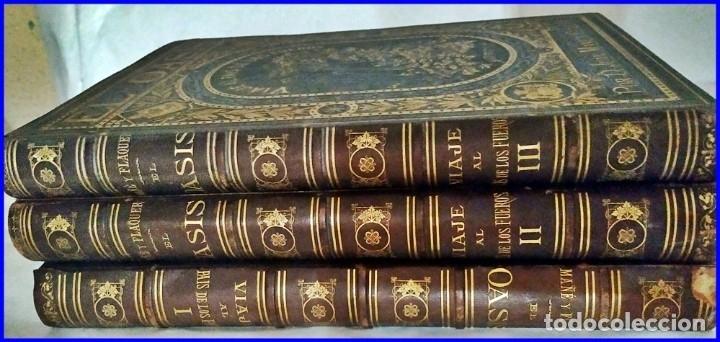 Libros antiguos: AÑO 1878-80: EL OASIS. VIAJE AL PAÍS DE LOS FUEROS. 3 TOMOS ILUSTRADOS DEL SIGLO XIX. MAÑÉ Y FLAQUER - Foto 49 - 182367432