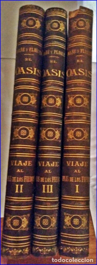 Libros antiguos: AÑO 1878-80: EL OASIS. VIAJE AL PAÍS DE LOS FUEROS. 3 TOMOS ILUSTRADOS DEL SIGLO XIX. MAÑÉ Y FLAQUER - Foto 50 - 182367432