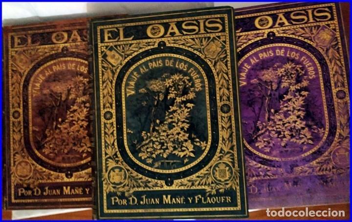 Libros antiguos: AÑO 1878-80: EL OASIS. VIAJE AL PAÍS DE LOS FUEROS. 3 TOMOS ILUSTRADOS DEL SIGLO XIX. MAÑÉ Y FLAQUER - Foto 52 - 182367432