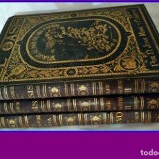 Libros antiguos: AÑO 1878-80: EL OASIS. VIAJE AL PAÍS DE LOS FUEROS. 3 TOMOS ILUSTRADOS DEL SIGLO XIX. MAÑÉ Y FLAQUER. Lote 182367432