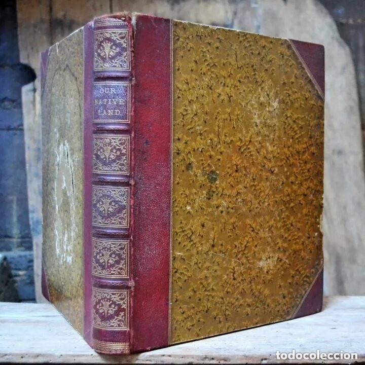 OUR NATIVE LAND * SCENERY 36 WATER-COLOR SKETCHES 1880 * ROWBOTHAM READ NEEDHAM * 27CMX23CM (Libros Antiguos, Raros y Curiosos - Geografía y Viajes)