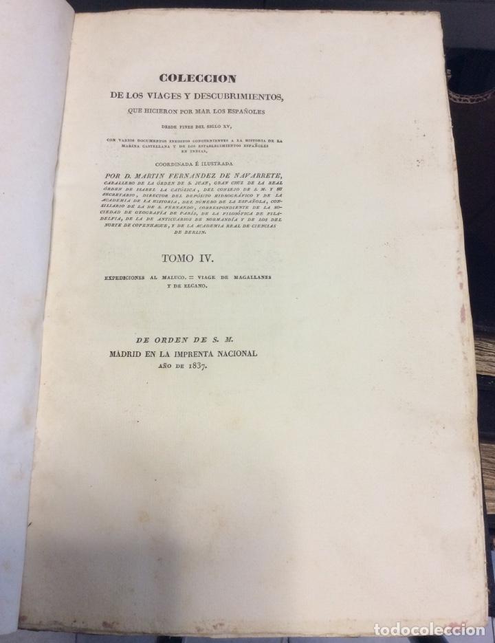Libros antiguos: Martin Fernández de Navarrete COLECCION DE LOS VIAGES Y DESCUBRIMIENTOS -MADRID 1825 - Foto 5 - 181415653