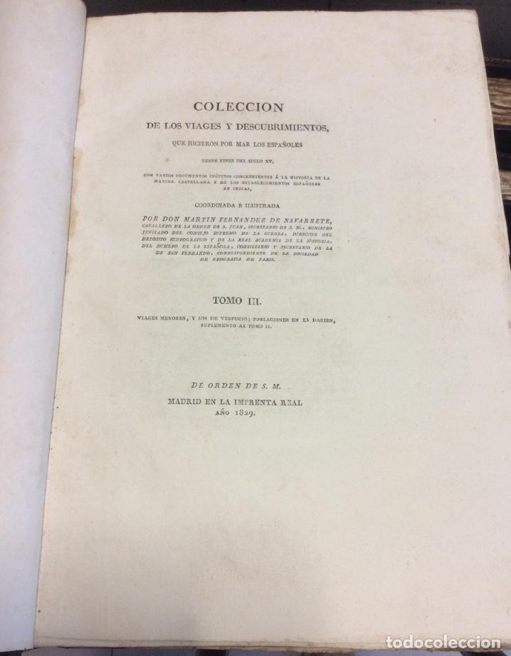 Libros antiguos: Martin Fernández de Navarrete COLECCION DE LOS VIAGES Y DESCUBRIMIENTOS -MADRID 1825 - Foto 7 - 181415653