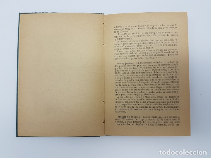Libros antiguos: GUIA DESCRIPTIVA MONASTERIO DEL ESCORIAL ( 20 AUTOTIPIAS ) COMIENZO DEL SIGLO - Foto 3 - 182955960