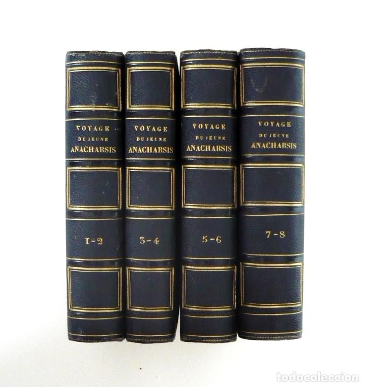 Libros antiguos: 1830 - Viaje del Joven Anacarsis a Grecia - Mundo Antiguo - Obra Completa en 8 tomos del Siglo XIX - Foto 2 - 183040208