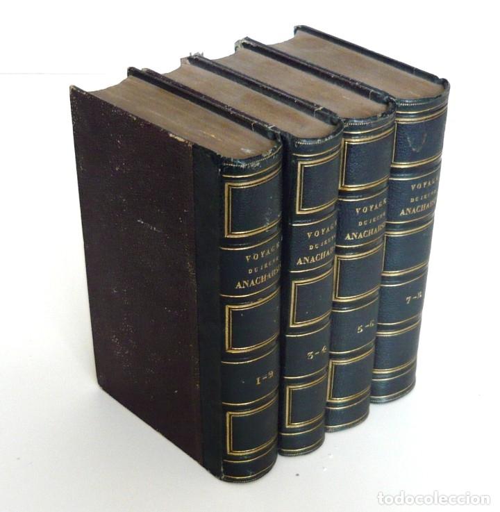 Libros antiguos: 1830 - Viaje del Joven Anacarsis a Grecia - Mundo Antiguo - Obra Completa en 8 tomos del Siglo XIX - Foto 3 - 183040208