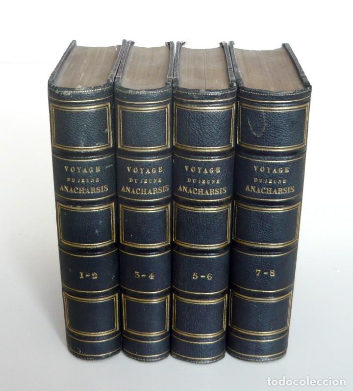 Libros antiguos: 1830 - Viaje del Joven Anacarsis a Grecia - Mundo Antiguo - Obra Completa en 8 tomos del Siglo XIX - Foto 11 - 183040208