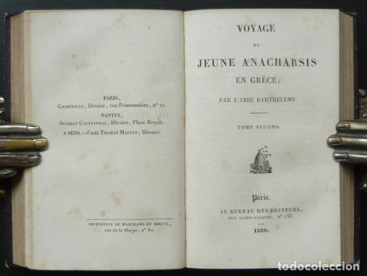 Libros antiguos: 1830 - Viaje del Joven Anacarsis a Grecia - Mundo Antiguo - Obra Completa en 8 tomos del Siglo XIX - Foto 7 - 183040208