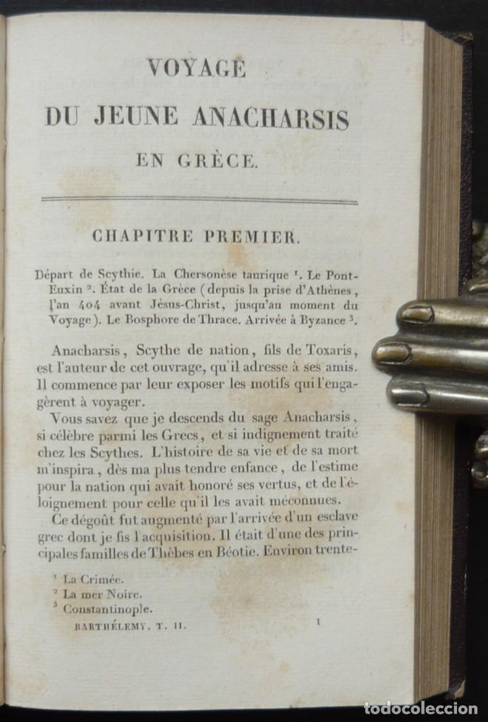 Libros antiguos: 1830 - Viaje del Joven Anacarsis a Grecia - Mundo Antiguo - Obra Completa en 8 tomos del Siglo XIX - Foto 8 - 183040208