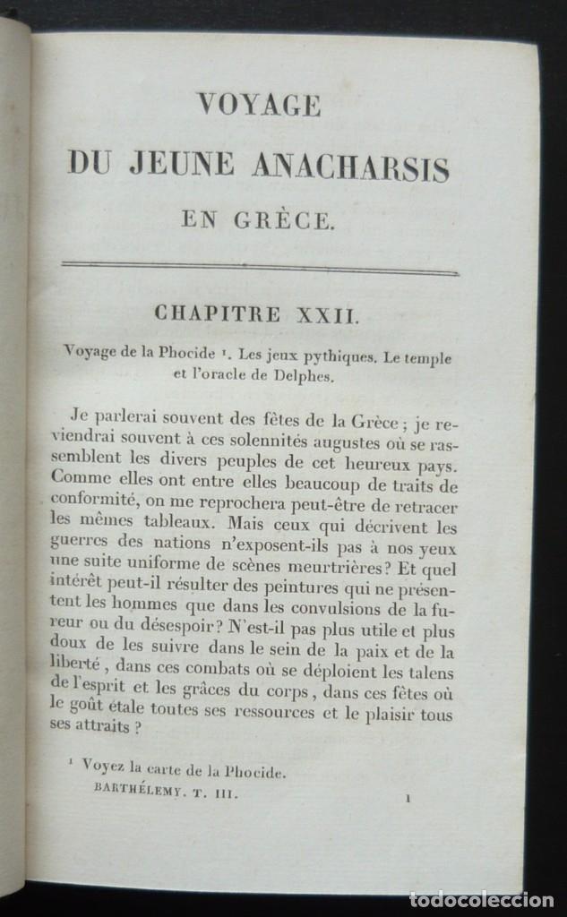 Libros antiguos: 1830 - Viaje del Joven Anacarsis a Grecia - Mundo Antiguo - Obra Completa en 8 tomos del Siglo XIX - Foto 9 - 183040208