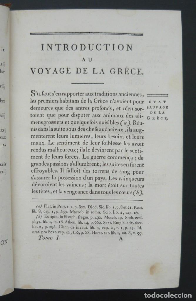 Libros antiguos: 1790 - Viaje del Joven Anacarsis a Grecia - 7 Tomos del Siglo XVIII, Completo, Piel - Grecia Antigua - Foto 6 - 183040830