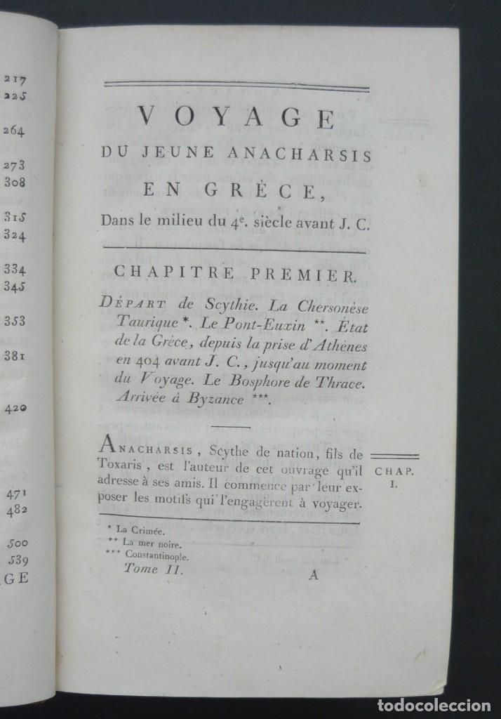 Libros antiguos: 1790 - Viaje del Joven Anacarsis a Grecia - 7 Tomos del Siglo XVIII, Completo, Piel - Grecia Antigua - Foto 7 - 183040830