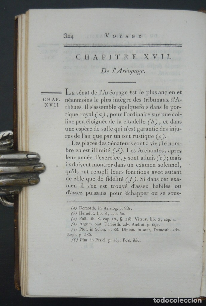 Libros antiguos: 1790 - Viaje del Joven Anacarsis a Grecia - 7 Tomos del Siglo XVIII, Completo, Piel - Grecia Antigua - Foto 8 - 183040830