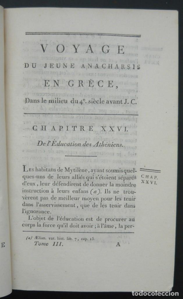 Libros antiguos: 1790 - Viaje del Joven Anacarsis a Grecia - 7 Tomos del Siglo XVIII, Completo, Piel - Grecia Antigua - Foto 9 - 183040830
