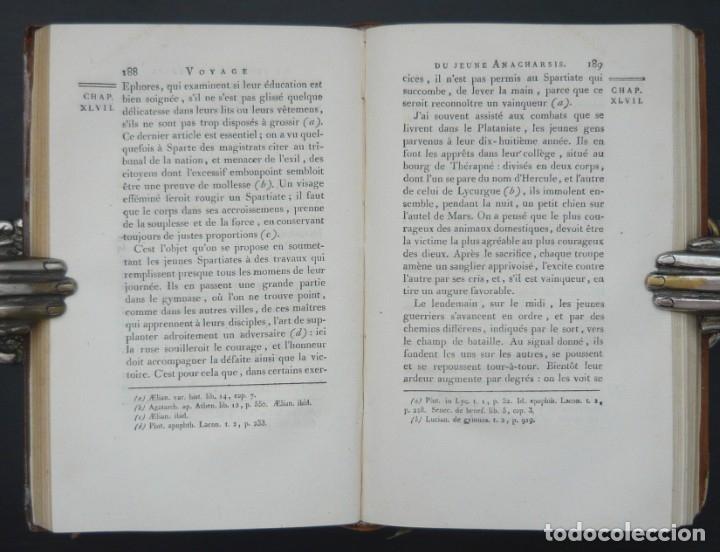 Libros antiguos: 1790 - Viaje del Joven Anacarsis a Grecia - 7 Tomos del Siglo XVIII, Completo, Piel - Grecia Antigua - Foto 10 - 183040830