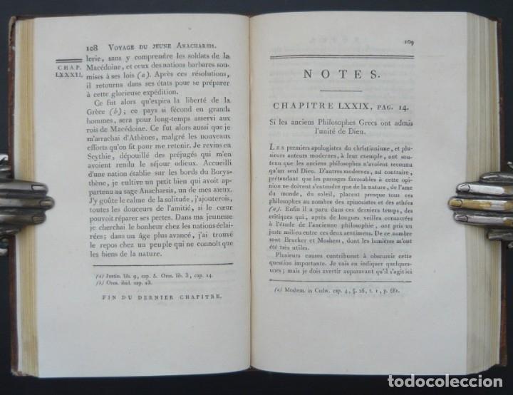 Libros antiguos: 1790 - Viaje del Joven Anacarsis a Grecia - 7 Tomos del Siglo XVIII, Completo, Piel - Grecia Antigua - Foto 12 - 183040830