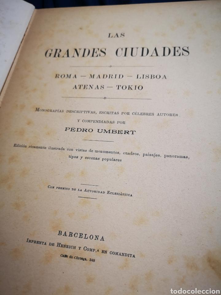 Libros antiguos: Las grandes ciudades, Pedro Umbert - Foto 2 - 183041941