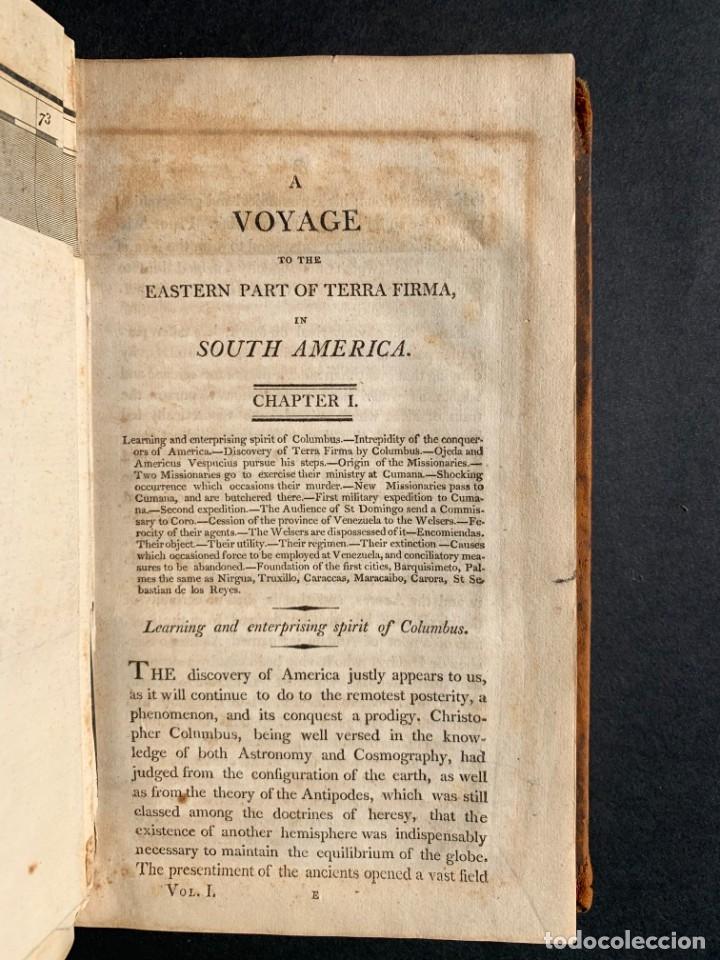 Libros antiguos: 1806 - A VOYAGE TO The Spanish Main - Historia sudamerica - Viajes - Caracas - Mapa - Foto 8 - 183063661