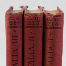 Libros antiguos: VIAJE A ITALIA-PRESIDENTE DE BROSSES-TALLERES CALPE, 1922-3 TOMOS. Lote 183199795