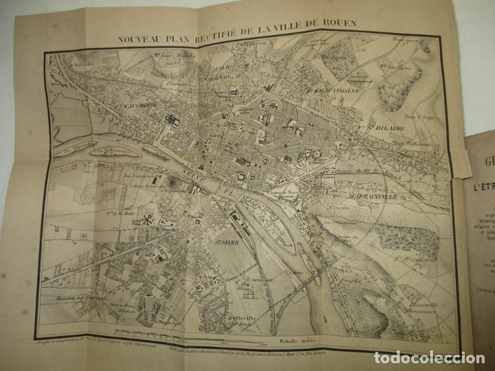 Libros antiguos: GUIDE COMPLET DE L'ÉTRANGER A ROUEN ET DANS SES ENVIRONS. PETIT, L. c. 1865. - Foto 3 - 183363248
