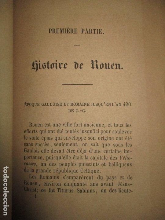 Libros antiguos: GUIDE COMPLET DE L'ÉTRANGER A ROUEN ET DANS SES ENVIRONS. PETIT, L. c. 1865. - Foto 6 - 183363248