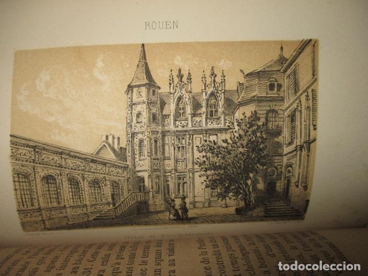 Libros antiguos: GUIDE COMPLET DE L'ÉTRANGER A ROUEN ET DANS SES ENVIRONS. PETIT, L. c. 1865. - Foto 7 - 183363248