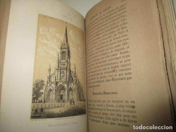 Libros antiguos: GUIDE COMPLET DE L'ÉTRANGER A ROUEN ET DANS SES ENVIRONS. PETIT, L. c. 1865. - Foto 8 - 183363248