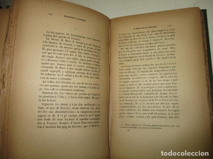 Libros antiguos: RECORTS D'UN EXCURSIONISTA. BOSCH DE LA TRINXERIA, C. 1887. PRIMERA EDICIÓ. - Foto 5 - 183365846