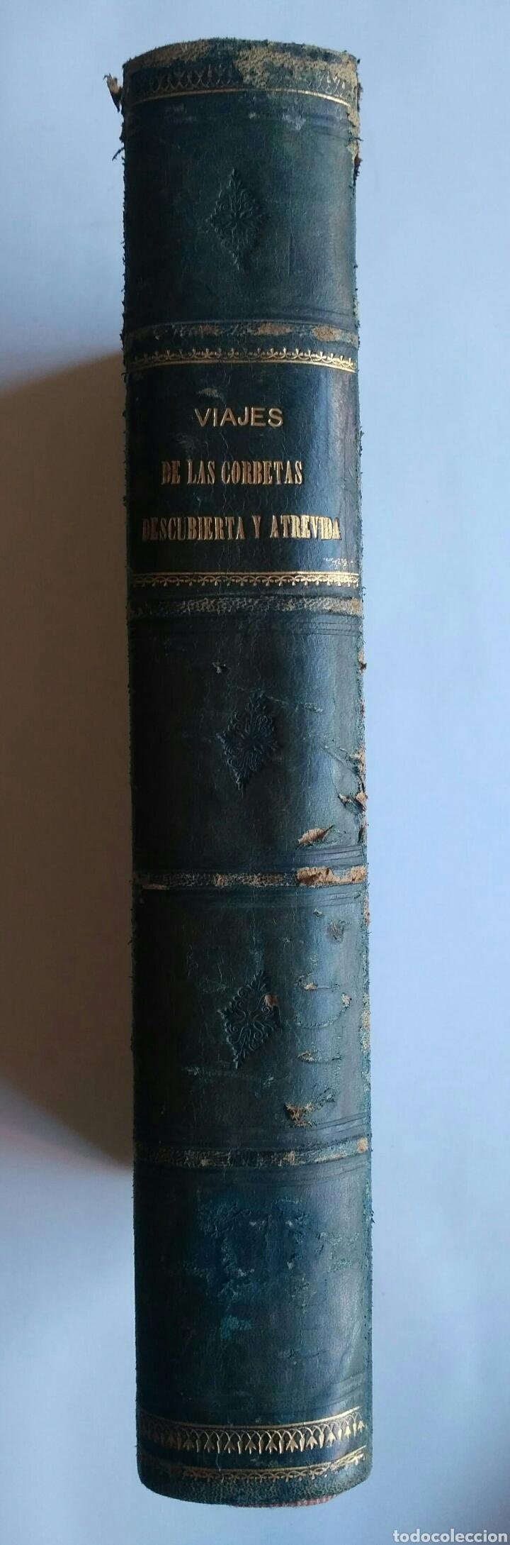 Libros antiguos: Viajes de las Corbetas Descubierta y Atrevida. Expedición Malaspina. Madrid, 1885. Primera edición. - Foto 3 - 183740995