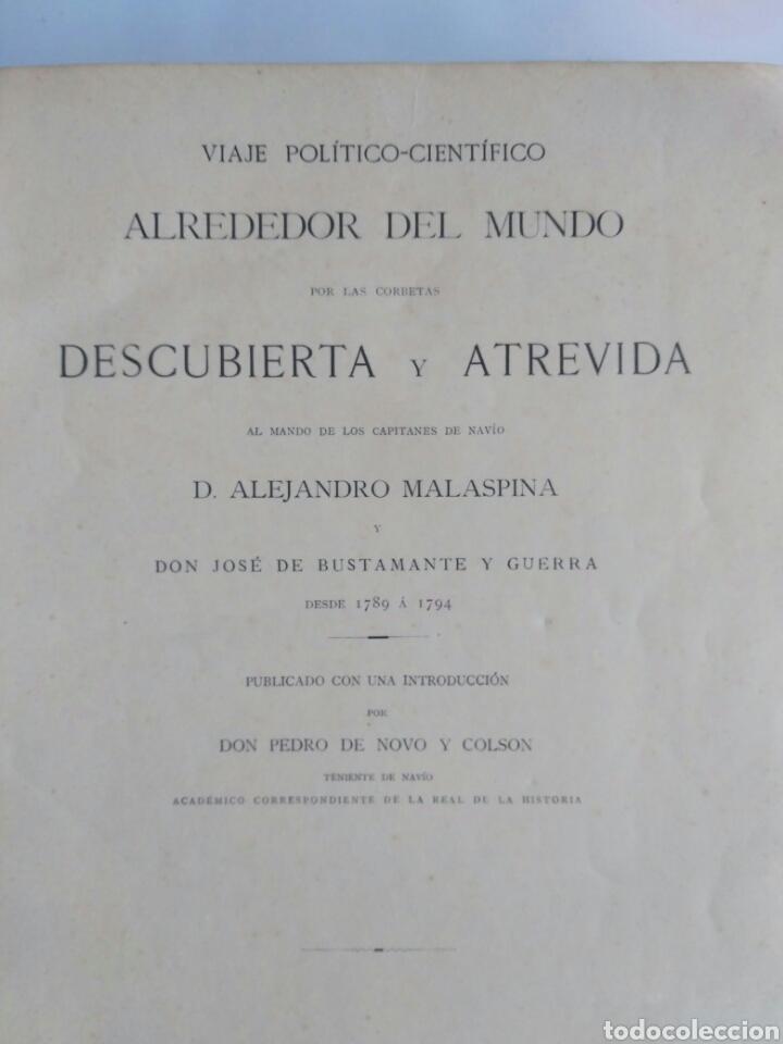 Libros antiguos: Viajes de las Corbetas Descubierta y Atrevida. Expedición Malaspina. Madrid, 1885. Primera edición. - Foto 9 - 183740995