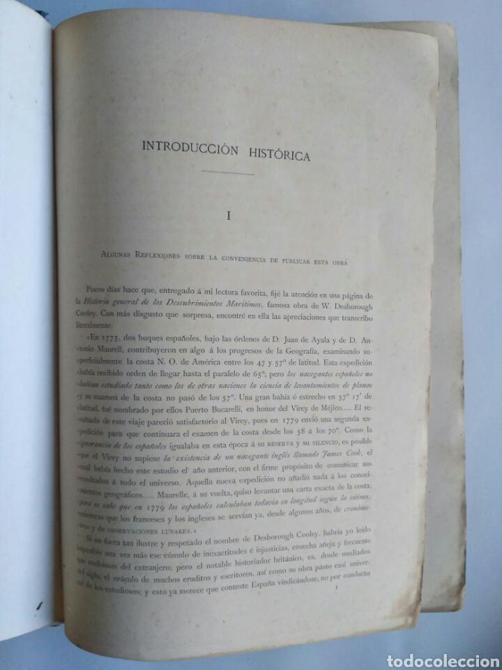 Libros antiguos: Viajes de las Corbetas Descubierta y Atrevida. Expedición Malaspina. Madrid, 1885. Primera edición. - Foto 14 - 183740995