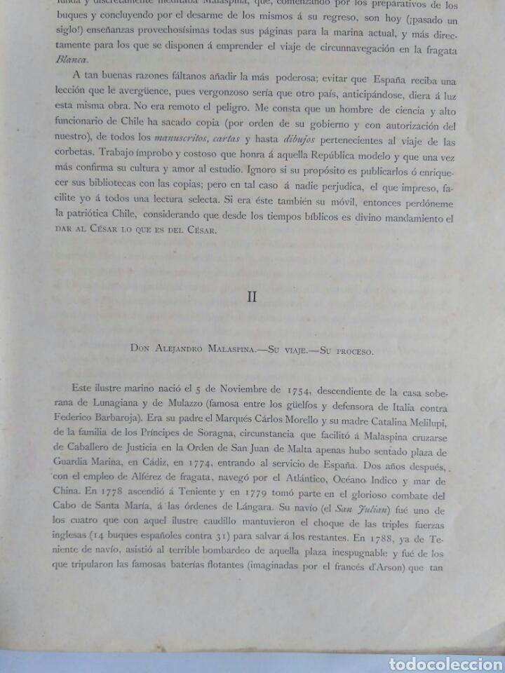 Libros antiguos: Viajes de las Corbetas Descubierta y Atrevida. Expedición Malaspina. Madrid, 1885. Primera edición. - Foto 15 - 183740995
