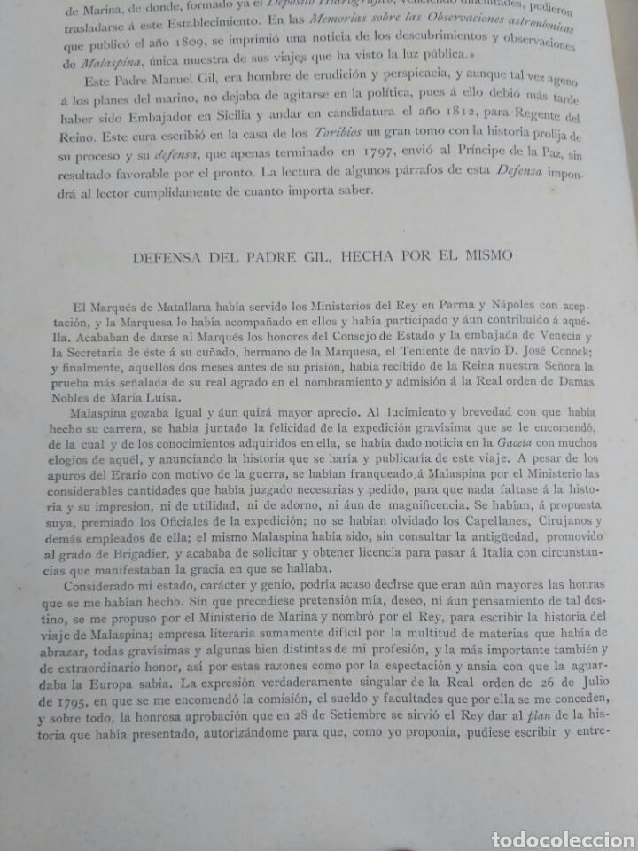 Libros antiguos: Viajes de las Corbetas Descubierta y Atrevida. Expedición Malaspina. Madrid, 1885. Primera edición. - Foto 16 - 183740995
