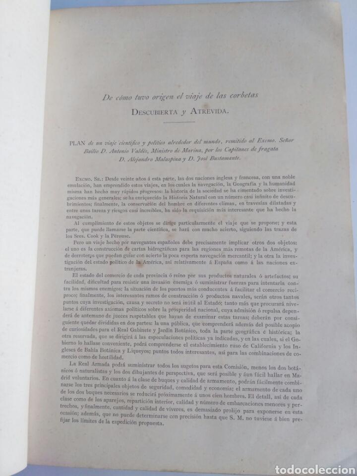 Libros antiguos: Viajes de las Corbetas Descubierta y Atrevida. Expedición Malaspina. Madrid, 1885. Primera edición. - Foto 20 - 183740995