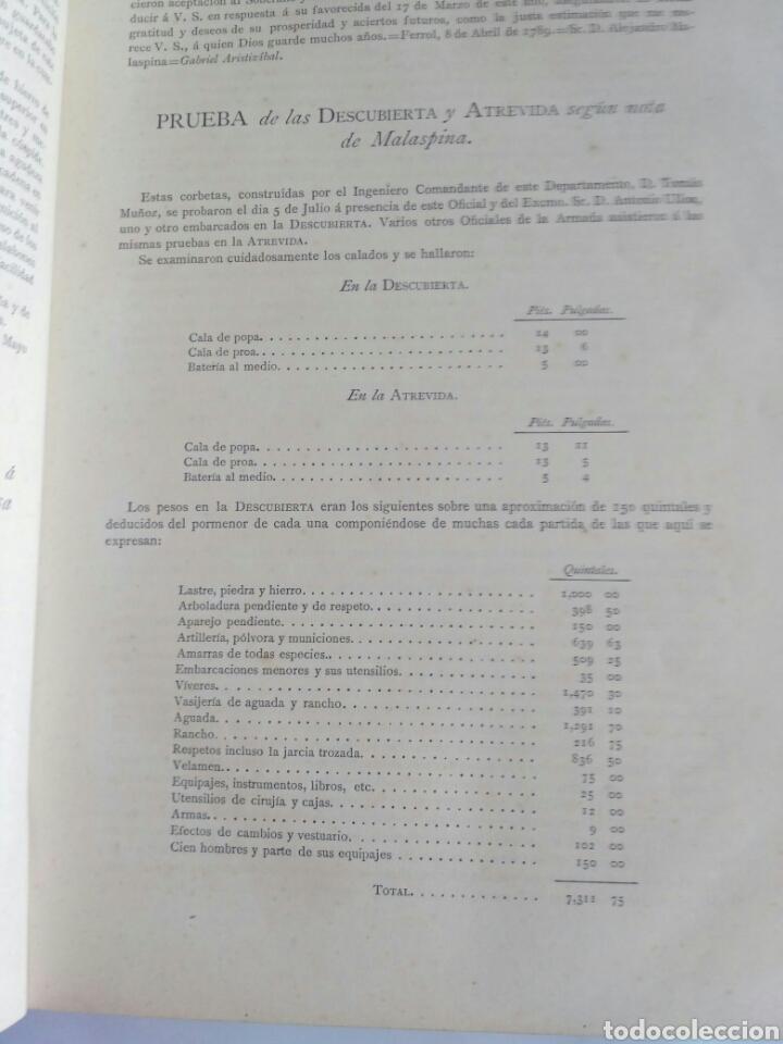 Libros antiguos: Viajes de las Corbetas Descubierta y Atrevida. Expedición Malaspina. Madrid, 1885. Primera edición. - Foto 24 - 183740995