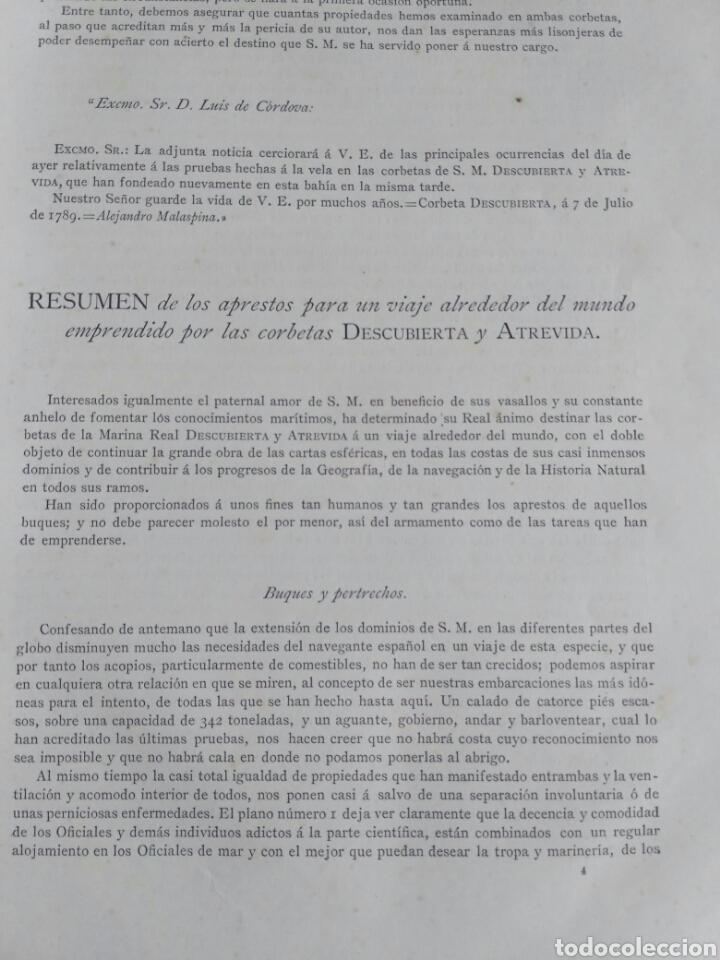 Libros antiguos: Viajes de las Corbetas Descubierta y Atrevida. Expedición Malaspina. Madrid, 1885. Primera edición. - Foto 25 - 183740995