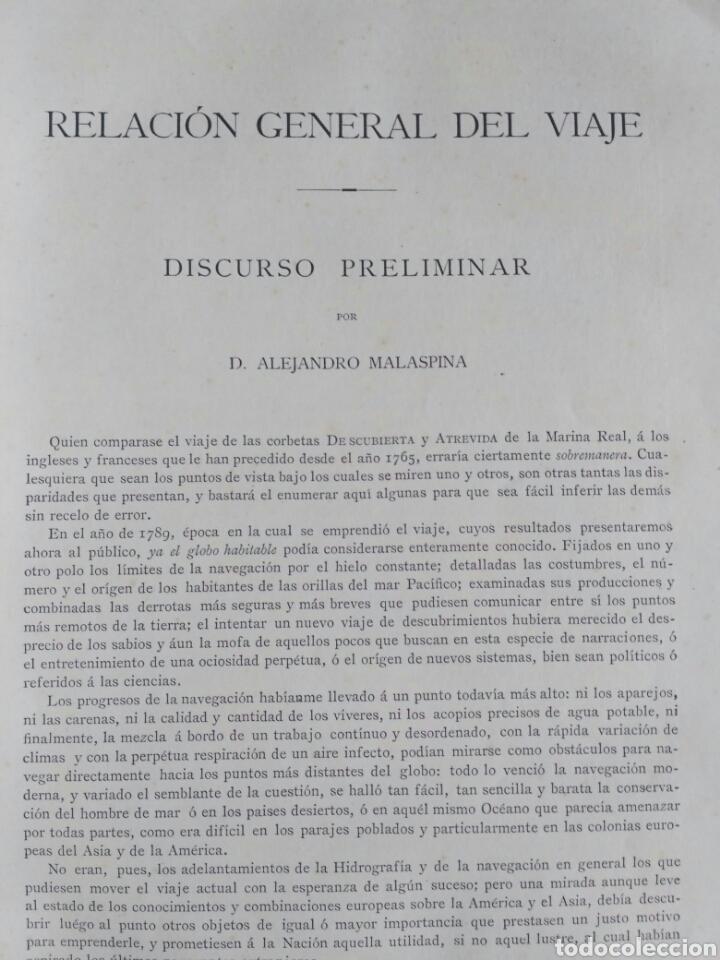 Libros antiguos: Viajes de las Corbetas Descubierta y Atrevida. Expedición Malaspina. Madrid, 1885. Primera edición. - Foto 26 - 183740995