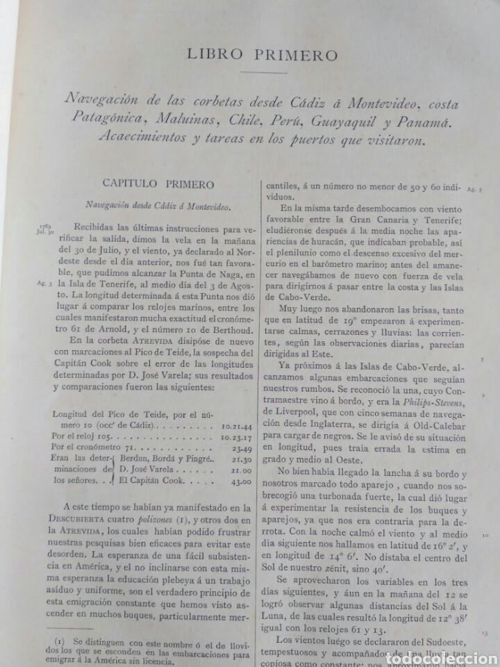 Libros antiguos: Viajes de las Corbetas Descubierta y Atrevida. Expedición Malaspina. Madrid, 1885. Primera edición. - Foto 29 - 183740995