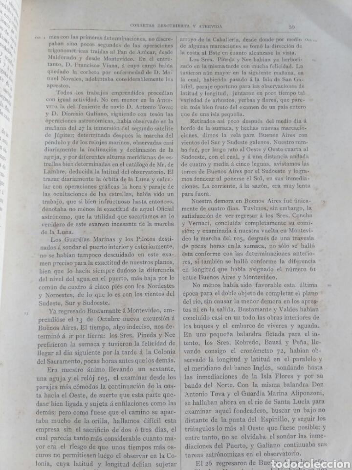 Libros antiguos: Viajes de las Corbetas Descubierta y Atrevida. Expedición Malaspina. Madrid, 1885. Primera edición. - Foto 30 - 183740995
