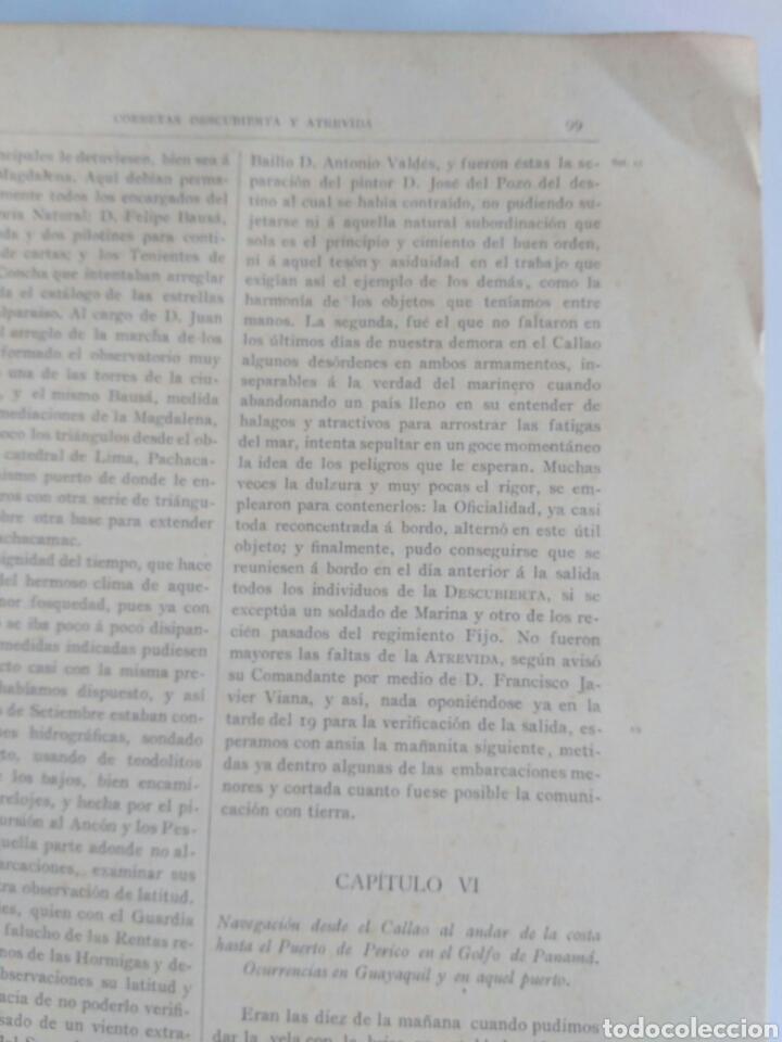 Libros antiguos: Viajes de las Corbetas Descubierta y Atrevida. Expedición Malaspina. Madrid, 1885. Primera edición. - Foto 31 - 183740995