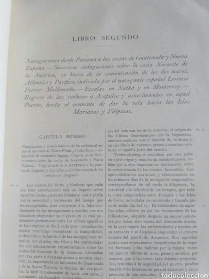 Libros antiguos: Viajes de las Corbetas Descubierta y Atrevida. Expedición Malaspina. Madrid, 1885. Primera edición. - Foto 32 - 183740995