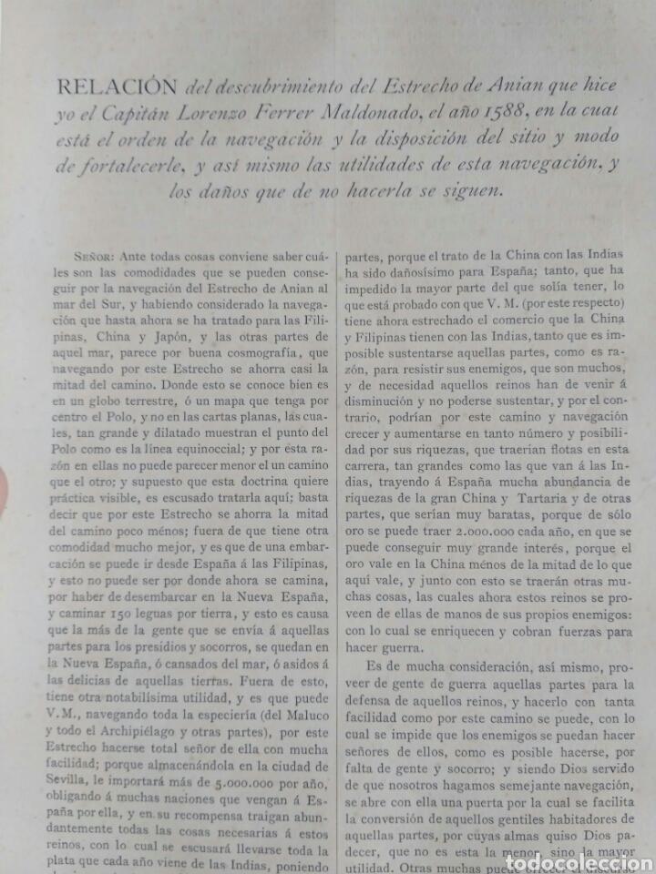 Libros antiguos: Viajes de las Corbetas Descubierta y Atrevida. Expedición Malaspina. Madrid, 1885. Primera edición. - Foto 34 - 183740995