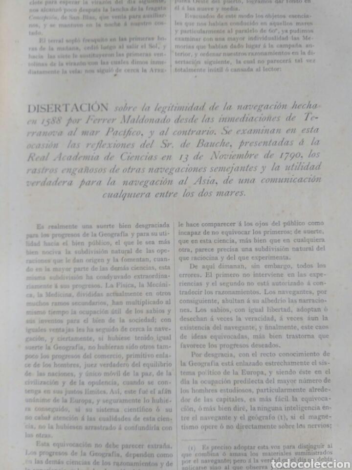 Libros antiguos: Viajes de las Corbetas Descubierta y Atrevida. Expedición Malaspina. Madrid, 1885. Primera edición. - Foto 35 - 183740995