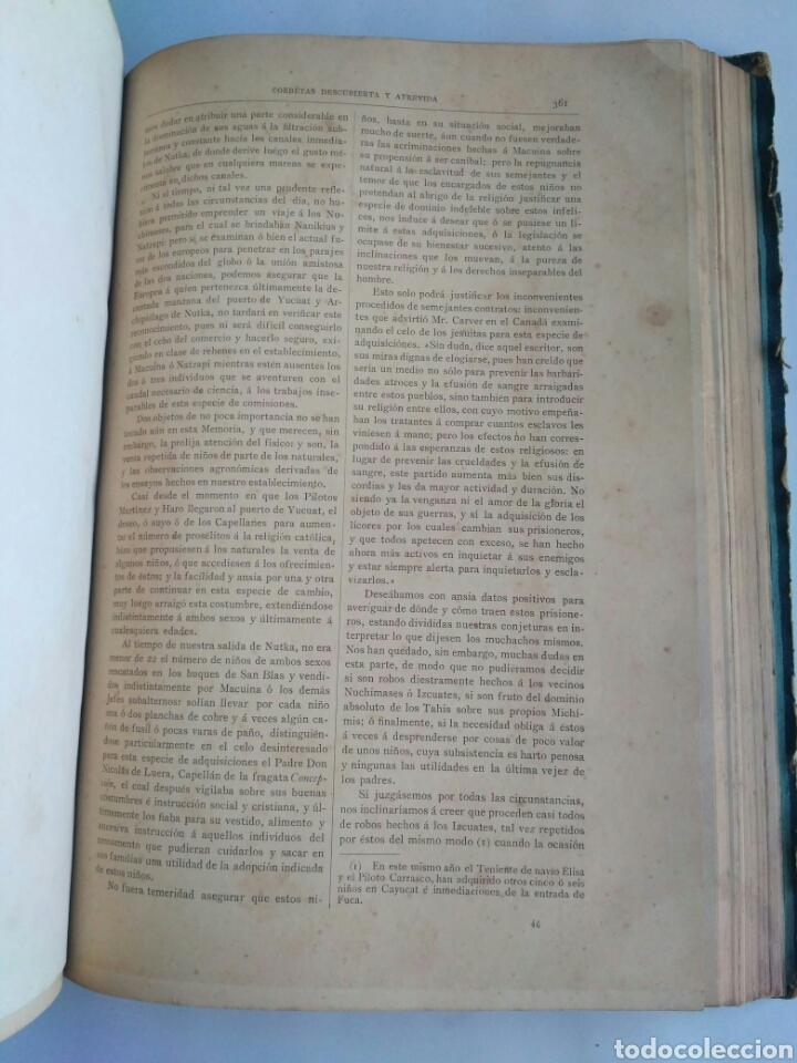 Libros antiguos: Viajes de las Corbetas Descubierta y Atrevida. Expedición Malaspina. Madrid, 1885. Primera edición. - Foto 39 - 183740995