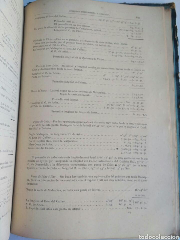 Libros antiguos: Viajes de las Corbetas Descubierta y Atrevida. Expedición Malaspina. Madrid, 1885. Primera edición. - Foto 48 - 183740995