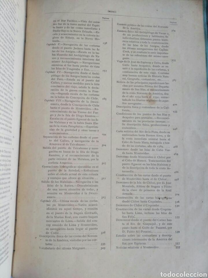 Libros antiguos: Viajes de las Corbetas Descubierta y Atrevida. Expedición Malaspina. Madrid, 1885. Primera edición. - Foto 50 - 183740995