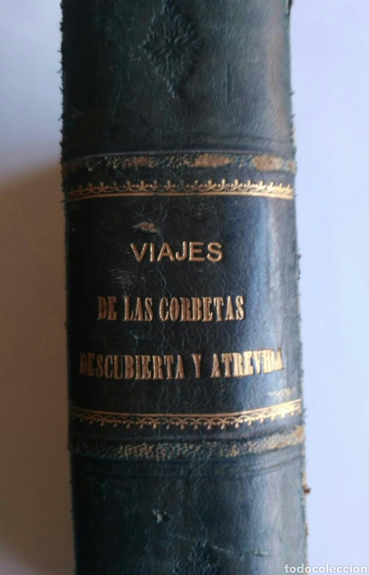 VIAJES DE LAS CORBETAS DESCUBIERTA Y ATREVIDA. EXPEDICIÓN MALASPINA. MADRID, 1885. PRIMERA EDICIÓN. (Libros Antiguos, Raros y Curiosos - Geografía y Viajes)